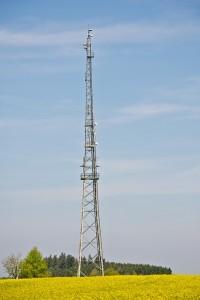 Prace wysokościowe na masztach radiowych